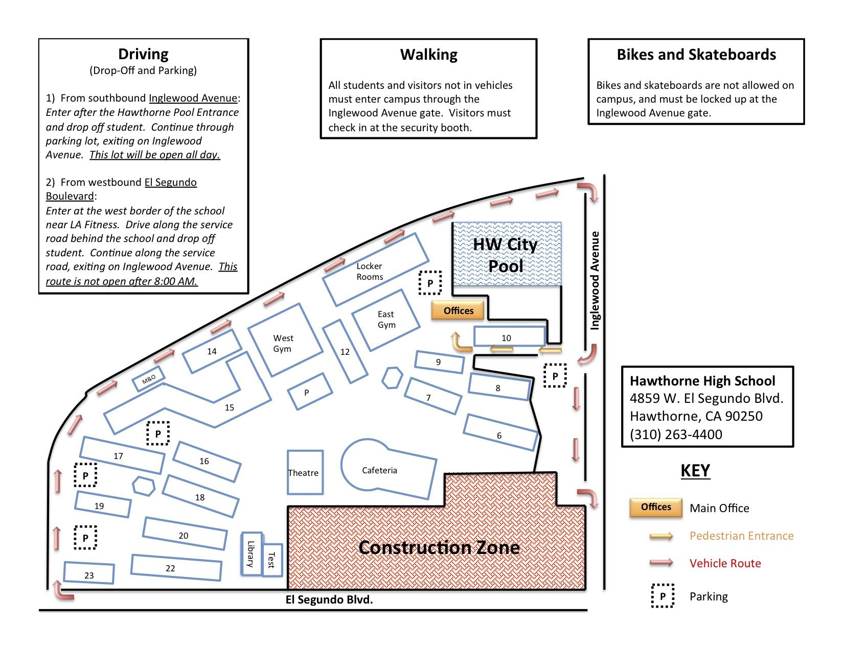 Rti Campus Map.Hawthorne High School